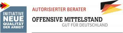 logo autorisierter berater - offensive mittelstand - gut für deutschland